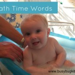 bath time words