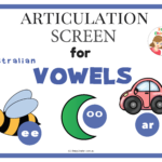Vowels in Preschoolers